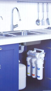 Aquaphor Classic Osmo Trio reverse osmosis system in the interior