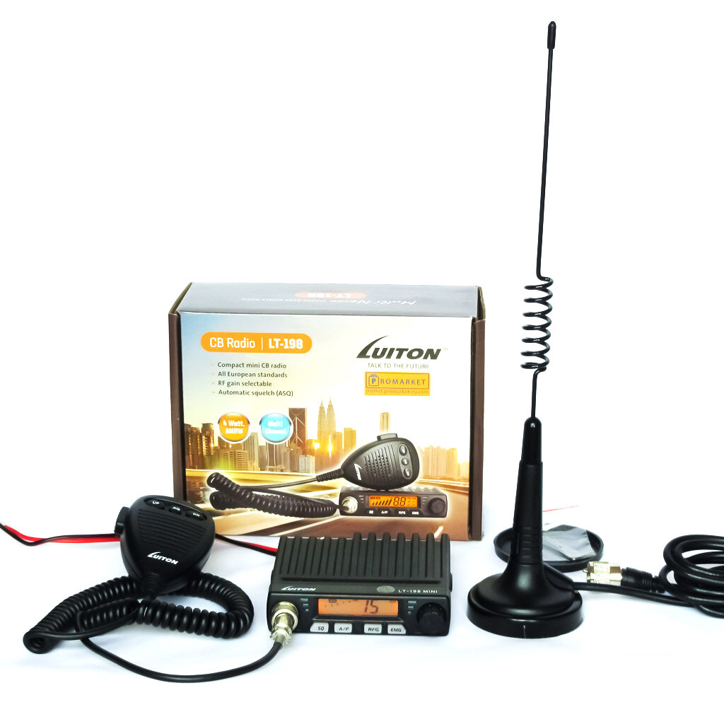Luiton LT-198 two-way CB radio transceiver with antenna MAG-1345