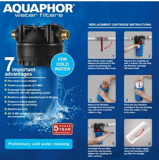 Aquaphor фильтры предварительной очистки являются краеугольным камнем любой очистки воды. Прежде чем фильтры Аквафор смогут защитить вас, защитите их для более долгой службы.